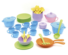 Green Toys Servies en Pannenset 'Classroom Cafe Set' 61-delig