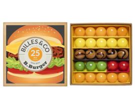 Billes & Co Knikkers in doosje, Mini Box B.Burger/Hamburger, 25 stuks