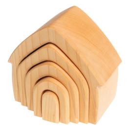 Grimm's houten Naturel Huisje 5-delig