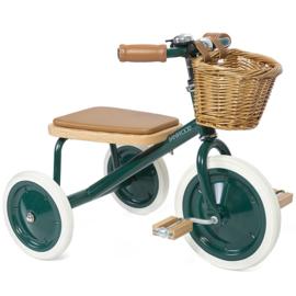 Banwood Trike Driewieler - Green - met duwstang en mandje