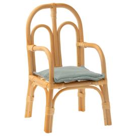 Maileg Rotan Stoeltje, Rattan Chair, Medium, 24,5 cm