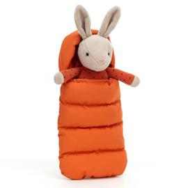 Jellycat Knuffel Konijn in slaapzak, Snuggler Bunny