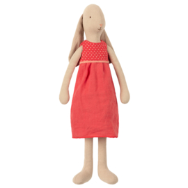 Maileg Bunny Size 3, dress Red, 42 cm