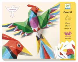 Djeco knutselset 3D Wanddecoratie - Papegaai, 8+