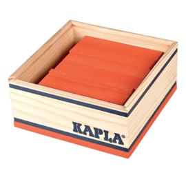 Kapla 40 plankjes in kistje, oranje