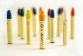 Stockmar Bijenwaskrijtjes, stiftjes 16 kleuren in blikje
