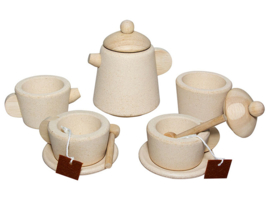 Plan Toys Houten Theeservies Tea Set, Naturel