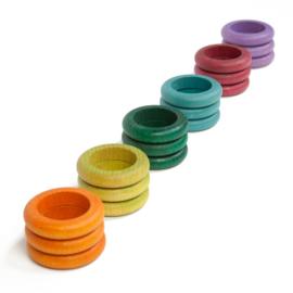 Grapat Ringen, 18 stuks, extra kleuren