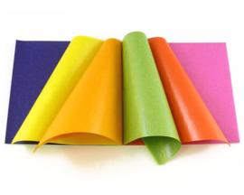 Mercurius Vliegerpapier Blok 100 vel, 16 x 16 cm, 11 kleuren
