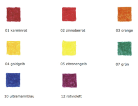 Stockmar Bijenwaskrijtjes, stiftjes 8 kleuren in blikje, Waldorf
