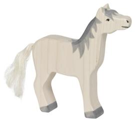 Holztiger Houten paard met grijze manen