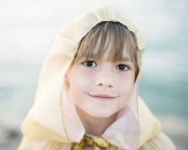 Prinsessen Cape Goud/roze, Royal Princess Cape, 5-7 jaar