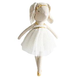 Alimrose Knuffel Konijn, Layla Bunny Gold Sparkle, 40 cm