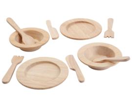 Plan Toys Houten Servies 10-delig