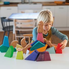 Grimm's houten puzzel/blokkenset Regenboog Leeuw