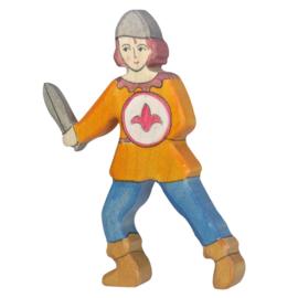 Holztiger Houten Jongen met zwaard
