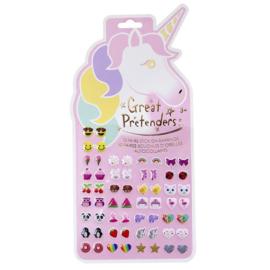 Plakoorbellen Unicorn, 60 stuks (30 paar)