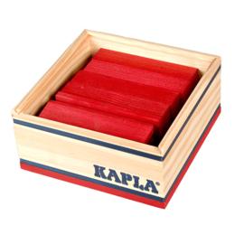 Kapla 40 plankjes in kistje, rood