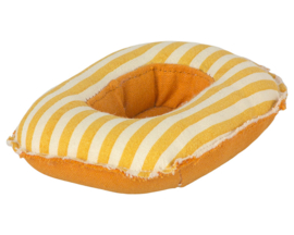 Maileg Rubber Boot voor kleine muizen, Rubber boat, Small mouse - Yellow stripe