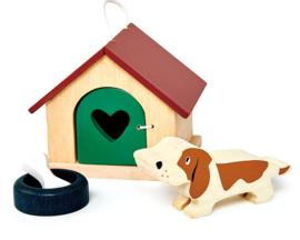 Poppenhuis Huisdierenset - Hond  - Tender Leaf Toys