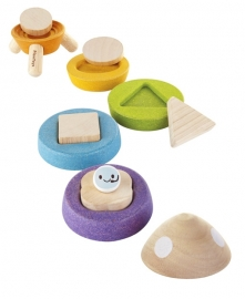 Plan Toys Stapel Raket, Stacking Rocket