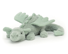 Jellycat Knuffel Draak, Sage Dragon Little, 26 cm