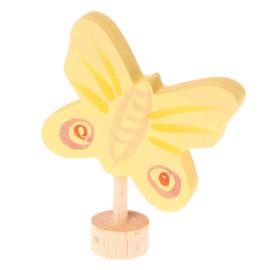Grimm's Decoratiefiguur / Steker Vlinder Geel