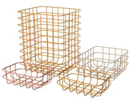 Maileg Set van 4 Metalen Opbergmanden, Storage baskets, nr.2