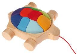 Grimm's houten Trekdier Schildpad