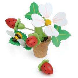 Bloempot met aardbeien - Tender Leaf Toys