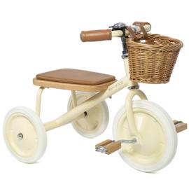 Banwood Trike Driewieler - Cream - met duwstang en mandje