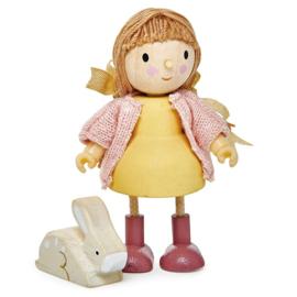 Poppenhuis Popje - Amy met Konijn - Tender Leaf Toys