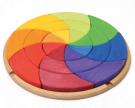 Grimm's houten puzzel/blokkenset 'Kleurencirkel Goethe'