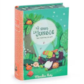 Moulin Roty Verhaaltjeslamp in boek 'Dans la Jungle'