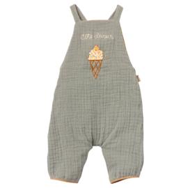 Maileg Overall / Tuinbroek  voor konijn Size 4, Dusty Blue
