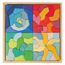 Grimm's puzzel/blokkenset Vier Temperamenten