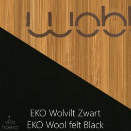 Wobbel original bamboe - vilt zwart
