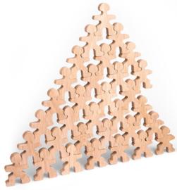 Flockmen houten figuurtjes 32 stuks