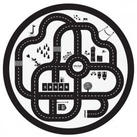 Play & Go Speelkleed / opbergzak, dubbelzijdig, Roadmap-Thunderbolt
