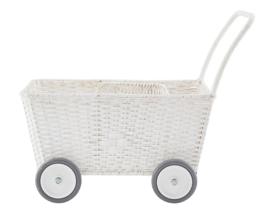 Olli Ella Poppenwagen Strolley Wit