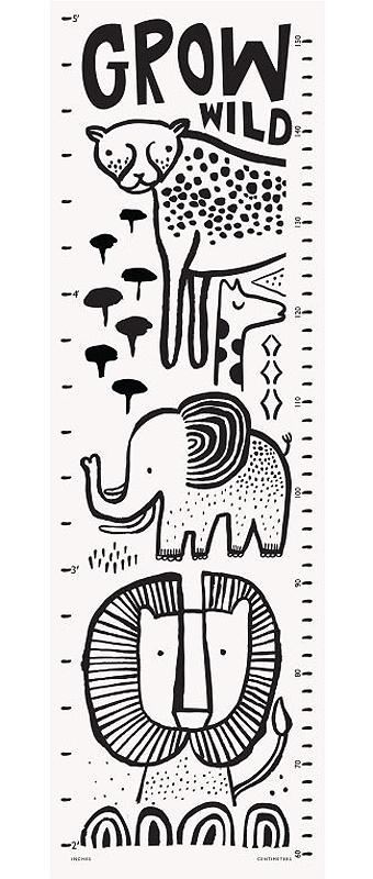 Wee Gallery Canvas Groeimeter 'Safari'