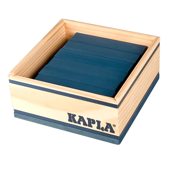 Kapla 40 plankjes in kistje, donkerblauw