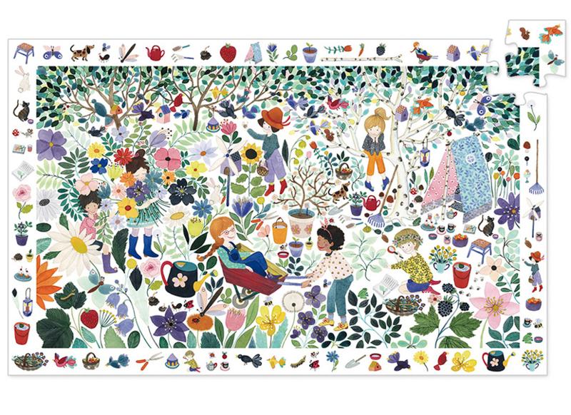 Djeco Ontdek Puzzel 'Duizend Bloemen', 100 st, 61x38 cm