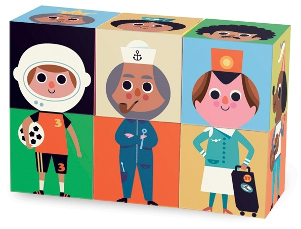 Vilac Blokpuzzel 'Funny Characters', Ingela P Arrhenius