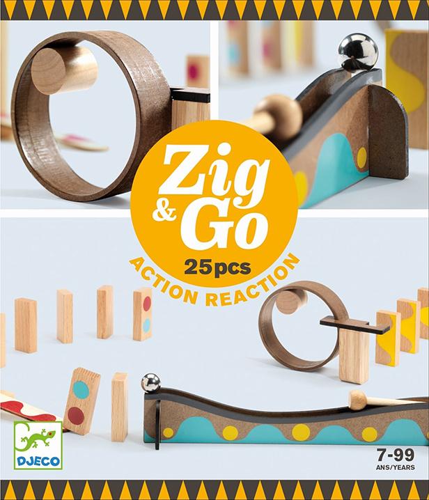 Djeco Zig & Go, Actie-Reactie-Baan, 25-delig