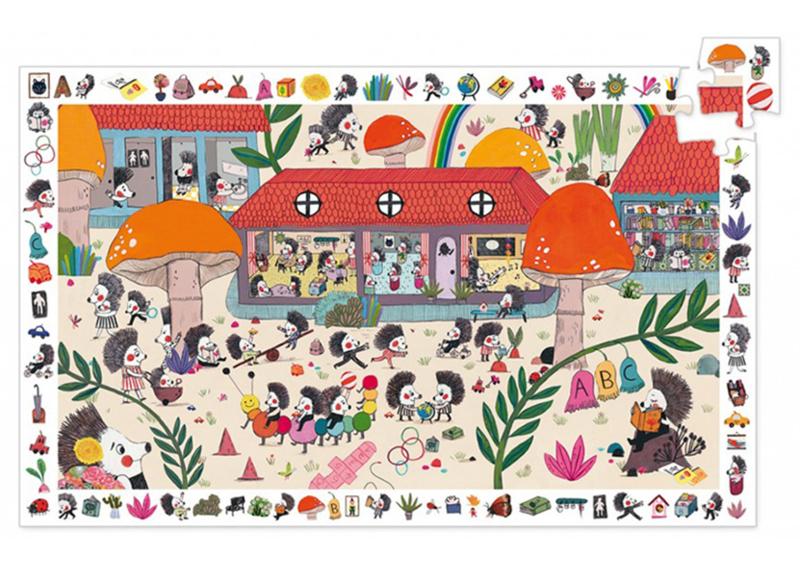 Djeco Ontdek Puzzel 'Egel School', 35 st, 61x38 cm