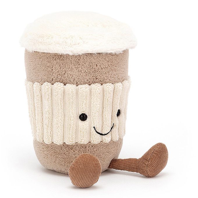 Jellycat Knuffel Koffie, Coffee-to-go, 15cm