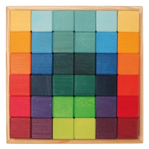 Grimm's Vierkante blokkenset 36-delig