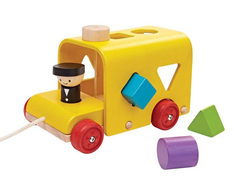 Plan Toys Vormenstoof Bus, Sorting Bus