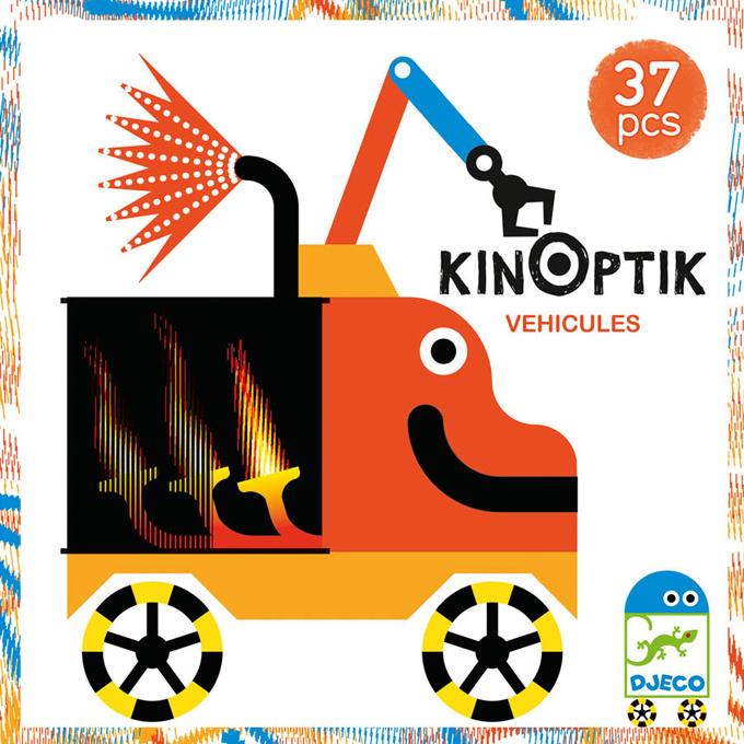 Djeco KINOPTIK Bouw en Animatie Set, Voertuigen